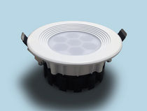 Recessed downlight / LED / round / plastic
