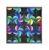 Decorative panel / wall-mounted / aluminum / smooth