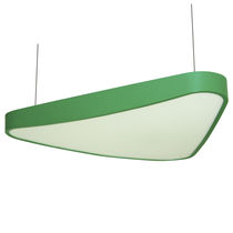 Hanging light fixture / LED / rectangular / aluminum