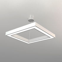 Hanging light fixture / LED / square / aluminum