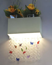 Contemporary wall light / crystal / plastic / aluminum