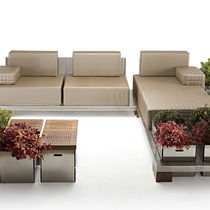 Corner sofa / modular / contemporary / outdoor