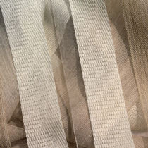 Curtain fabric / plain / polyester / wool