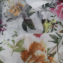 Curtain fabric / floral pattern / polyester / contract