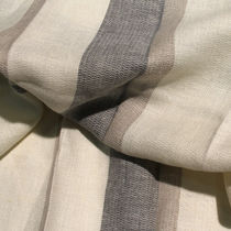Curtain fabric / striped / linen / contract