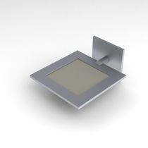 Contemporary wall light / aluminum / OLED / square