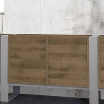 Furniture laminated panel / MDF / for furniture / wood look
