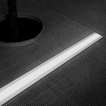 Recessed floor light fixture / LED / linear / outdoor