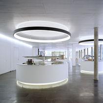 Pendant lamp / contemporary / aluminum / acrylic glass