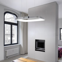 Pendant lamp / contemporary / aluminum / canvas