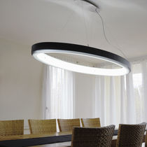 Pendant lamp / contemporary / aluminum / acrylic glass
