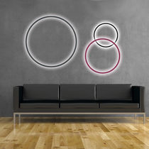 Contemporary wall light / aluminum / acrylic glass / LED