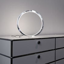 Table lamp / contemporary / aluminum / acrylic glass