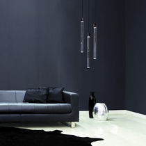Pendant lamp / contemporary / metal / acrylic glass