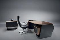 Executive desk / wooden / leather / contemporary