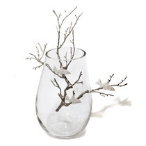 Original design vase / blown glass / porcelain