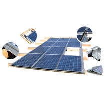 Mono-pitched roof mounting system / in-roof / for photovoltaic panels