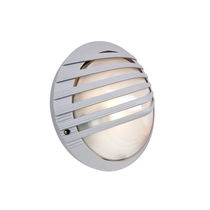 Surface-mounted light fixture / compact fluorescent / round / outdoor