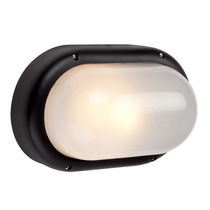 Surface-mounted light fixture / compact fluorescent / oval / outdoor