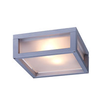 Surface-mounted light fixture / compact fluorescent / square / outdoor