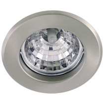 Recessed downlight / halogen / round / glass