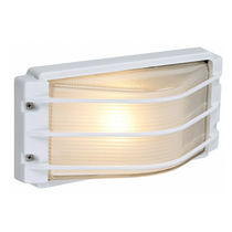 Surface-mounted light fixture / compact fluorescent / rectangular / outdoor