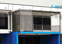 Particle board solar shading / for facades