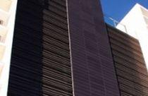 Aluminum ventilation grille / steel / in-line / for facades