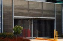 Aluminum ventilation grille / in-line / for facades