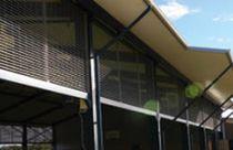Aluminum solar shading / for facades
