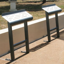 Stand-up bench / public / contemporary / steel