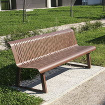 Public bench / traditional / steel / commercial