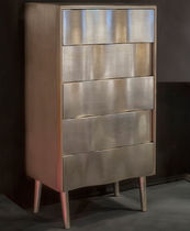 Contemporary chiffonier / lacquered wood / silver
