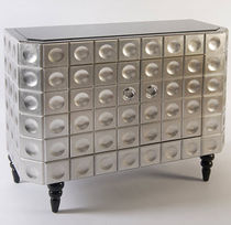 Traditional sideboard / varnished wood / silver