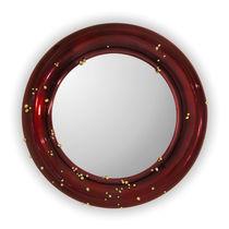 Wall-mounted mirror / contemporary / round / bathroom