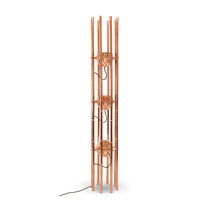 Floor-standing lamp / contemporary / polished copper / handmade
