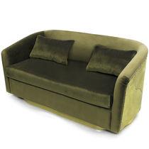 Contemporary sofa / velvet / brass / 2-seater