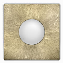 Wall-mounted mirror / contemporary / square / bathroom