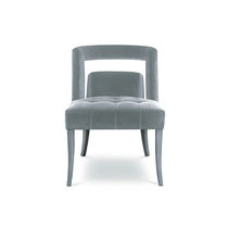 Contemporary dining chair / upholstered / velvet / commercial