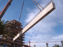 Reinforced concrete beam / precast concrete / rectangular