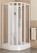 Glass shower cubicle / corner / with sliding door