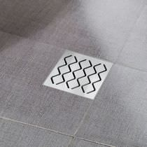 Stainless steel floor drain / square / grated