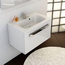 Countertop washbasin / rectangular / composite / contemporary