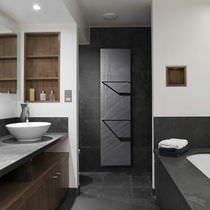 Hot water towel radiator / electric / natural stone / contemporary