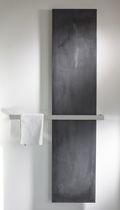 Hot water towel radiator / electric / natural stone / chrome