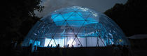 Tensile geodesic dome / roof / with PVC membrane / for special events