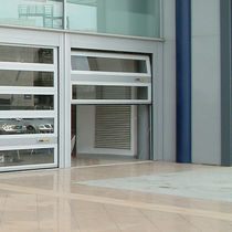 Sectional industrial door / aluminum / automatic / security