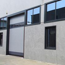 Roll-up industrial door / galvanized steel / automatic / wind-proof