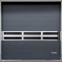 Roll-up industrial door / metal / automatic / soundproofed