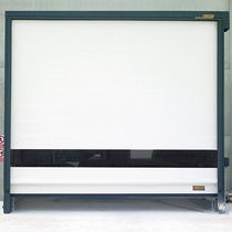 Roll-up industrial door / galvanized steel / PVC / automatic